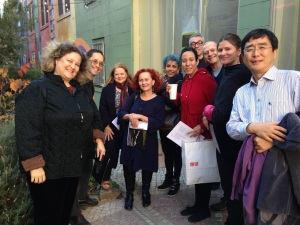 The group with Shinichi Iova-Koga in the Tenderloin