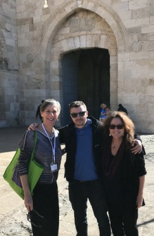 Atanas Marc, Mary-Louise Albert and me outside the Old City